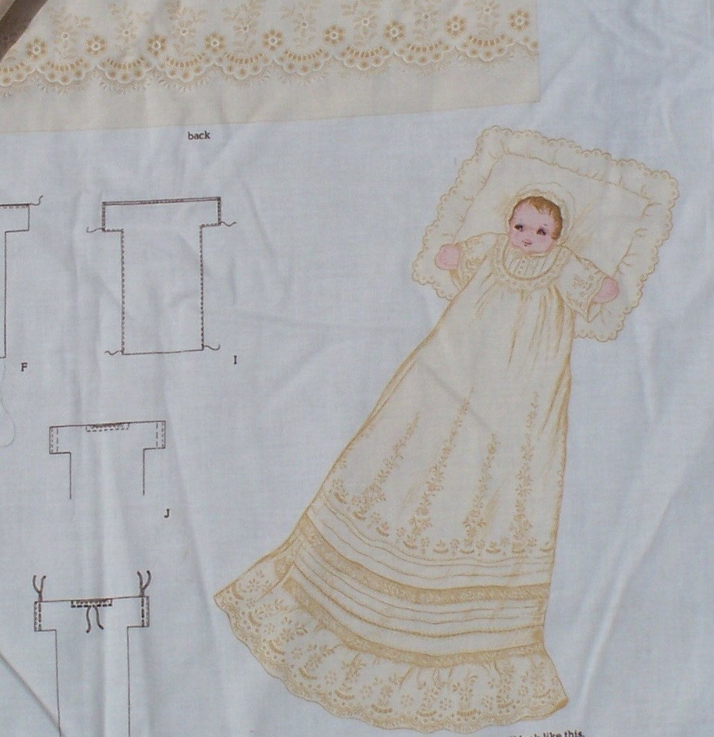 Christening Cloth Doll Fabric Panel Diy Project