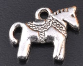 Mini Dala Horse Charm Lot of 100 - Wholesale