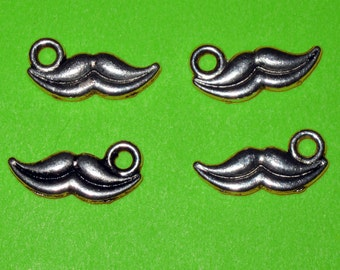 Mustache Charm Lot of 10