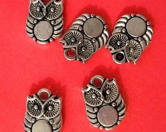 Mini Cute Fat Owl Charms lot of 50 - Wholesale Lot