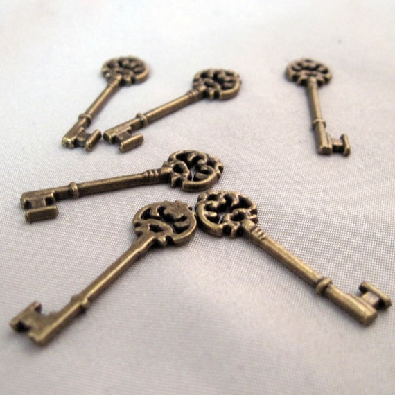 Bronze Victorian Key lot of 10 - LAST CHANCE CLEARANCE