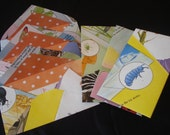 Bug book recycled into set of mailing envelopes