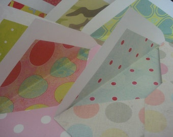 Set of 10 colorful envelopes for mailing needs