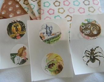 Vintage Children illustrations handmade envelopes