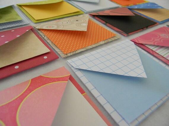 Set of 12 mini envelopes