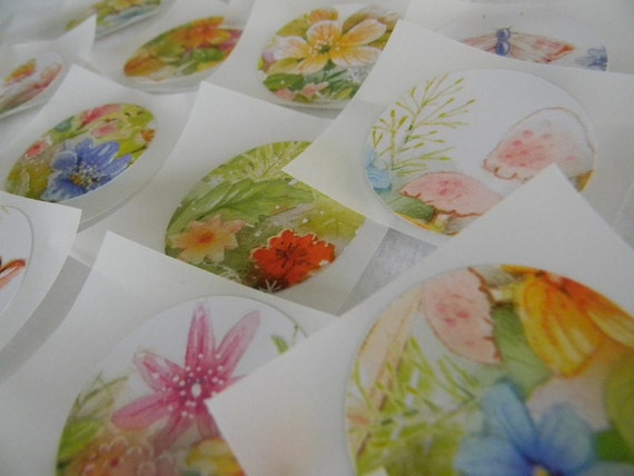 Flower stickers/seals