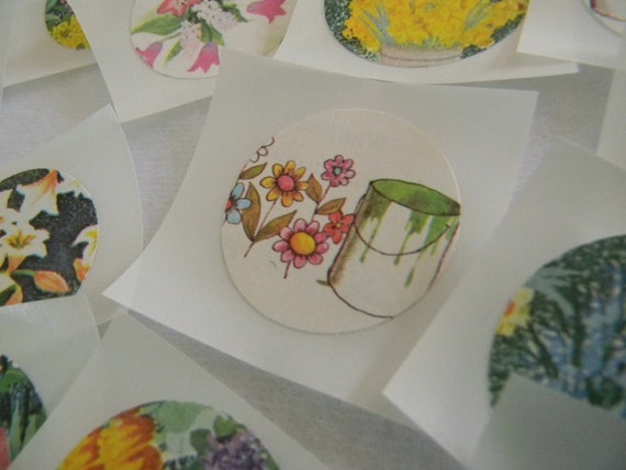 Flower stickers/seals