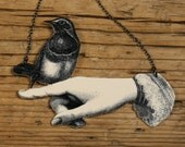 Bird in Hand Necklace