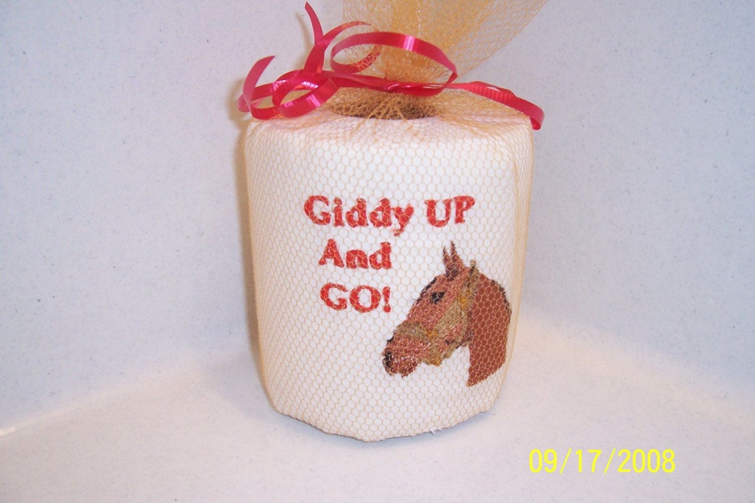 Embroidered Toilet Paper Horse Unique Gift