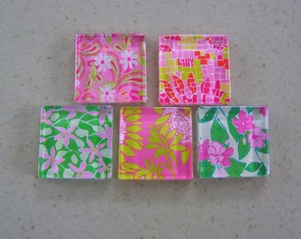 Pink and Green Palm Beach Prep Boxed Magnet Set