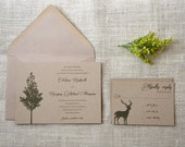 Sample Woodland Rustic Wedding Invitations