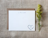 Custom Monogram Note Cards
