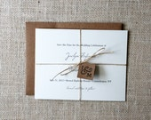 Rustic Save the Date Card Sample