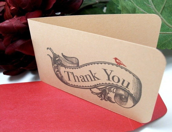 Engraved Banner Mini Thank You Notes (set of 10)