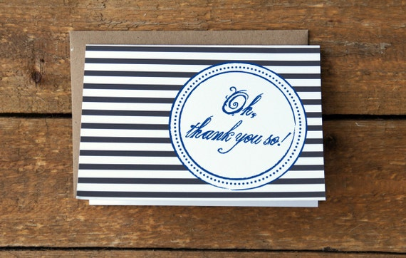 SALE Thank You Notes with Stripes