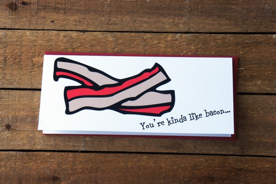 Bacon Love Note Card