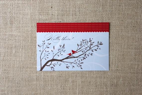 SALE Birds and Polka Dots Postcards