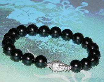 """Buddha Black Onyx """"Healing and Protection"""" Bracelet"""
