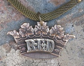 RESERVED for LISA--The Red Queen- Vintage Mesh Assemblage Necklace