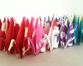 "28 Small Chiyogami Cranes - Tenugui (7 designs), 3"" (7.5 cm) Japanese Chiyogami Paper, Origami Cranes, Paper Crane Origami, Kawaii, Handmade"