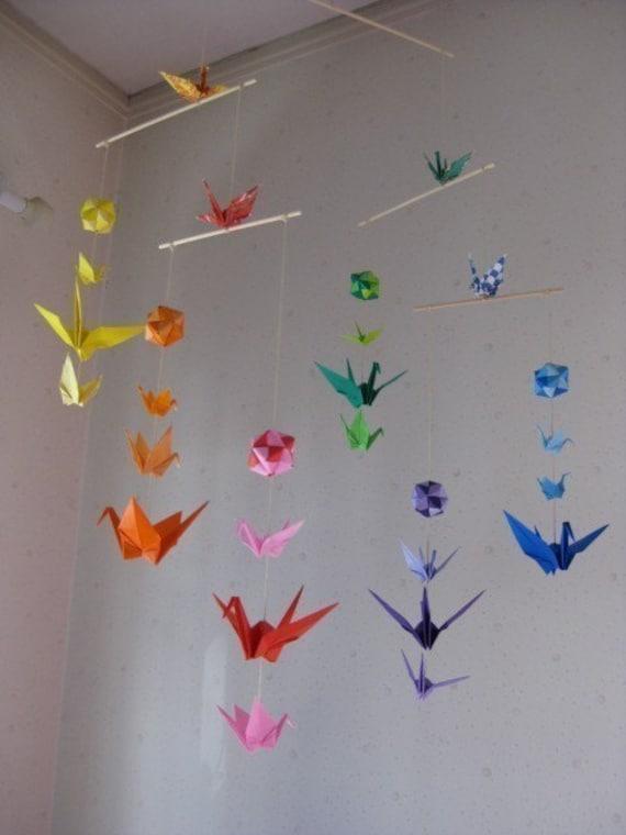 origami mobile cranes and modules. Black Bedroom Furniture Sets. Home Design Ideas