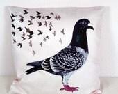 Euro Sham Pillow case Pigeon 26x26inch 66x66cm - throw pillow - pillow sham - Custom order for kolibrichan