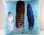 Pillow case Feathers in 16x16 inch 40x40cm for throw pillow or accent pillow, cushion cover