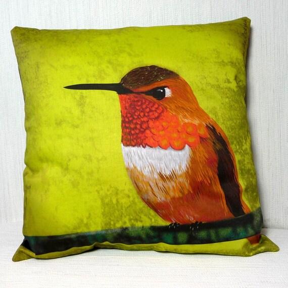 Pillowcase Rufous hummingbird 16x16 inch 40x40cm for throw pillow or accent pillow