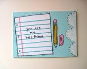 OOAK Best Friend Notebook Paper Collage