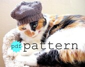 PDF Knitting Pattern Four Cornered Cat Hat