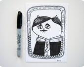 Edgar Allan Poe Cat Illustration