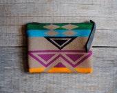 Small Rainbow Native Pendleton Wool Clutch