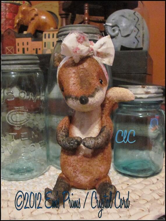 Primitive Country Decor  Fox  Doll folk art