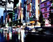 Akihabara (Blue) - 8x10 Metallic Finish Art Photograph