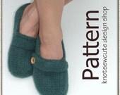 Felted Ladies' Slip-ons - Crochet Pattern - Ladies Size 4 to 10