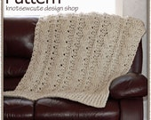 Chunky Cables Decorative Throw - Crochet Pattern (PDF) - INSTANT DOWNLOAD