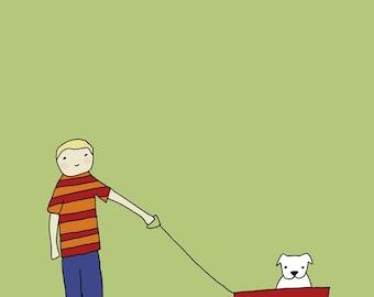 Bulldog Love - Boy Print 8x10