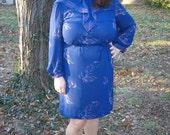 sale...cobalt waterfall dress.