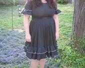 1960s plus size square dance dress / xxl 60s dress