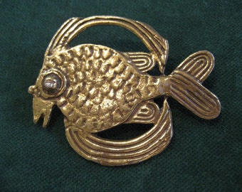 The Fish Under the Sea Dance Vintage Figural Pin