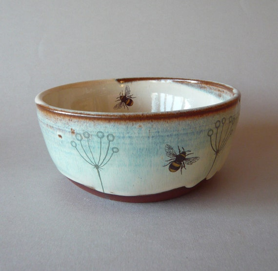 Plant and bee bowl
