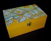 London Map Jigsaw Puzzle Wood Box