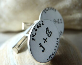 Here and Now Wedding Day Cuff Links
