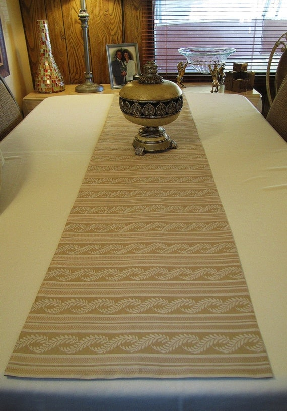 Table Runner - Pale Gold Stripe - 66 x 14-1/2 -  Item TR-517271