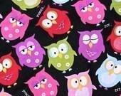 Brother Sister Design Sleepy Hoot Owl Fabric, 1 yard