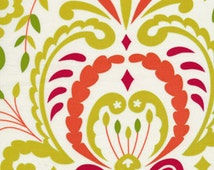 Kumari Garden Sujata Green Holiday Fabric, 1 yard