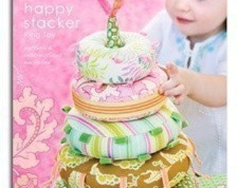 Heather Bailey Happy Stacker Ring Toy Sewing Pattern, FREE SHIPPING
