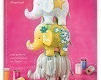 Heather Bailey Effie and Ollie Elephant Sewing Pattern, FREE SHIPPING