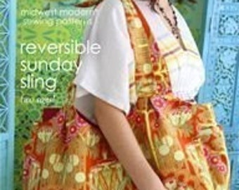 Amy Butler Reversible Sunday Sling Sewing Pattern, FREE SHIPPING