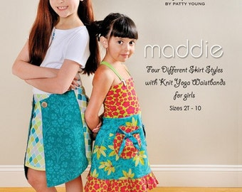 Patty Young Mod Kid Maddie Skirts-4 Styles-Sewing Pattern